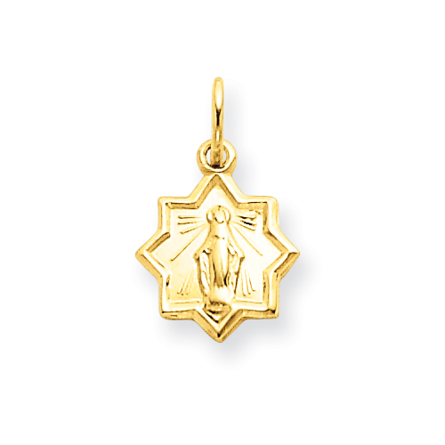14kt Yellow Gold 3/8in Blessed Mary Charm