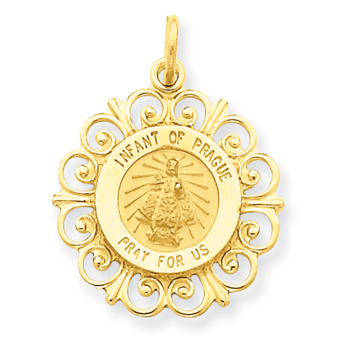 14kt Yellow Gold Infant of Prague Fancy Charm