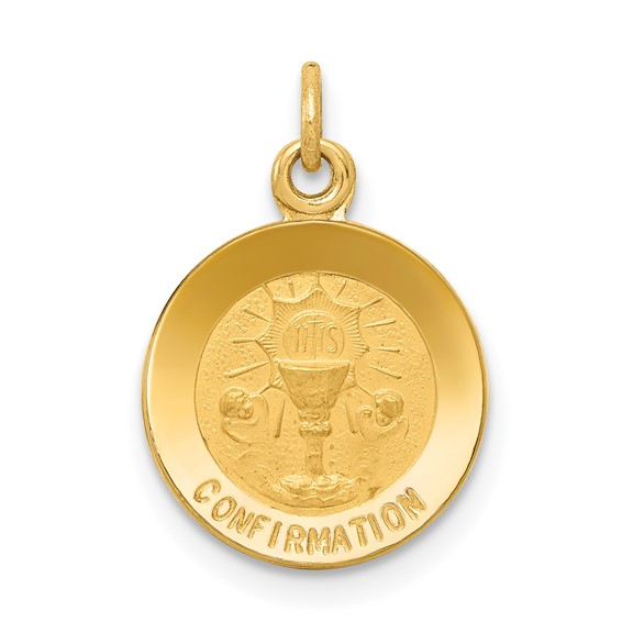 14kt 7/16in Confirmation Charm