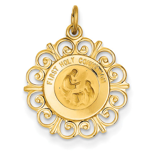 14kt 3/4in First Holy Communion Charm