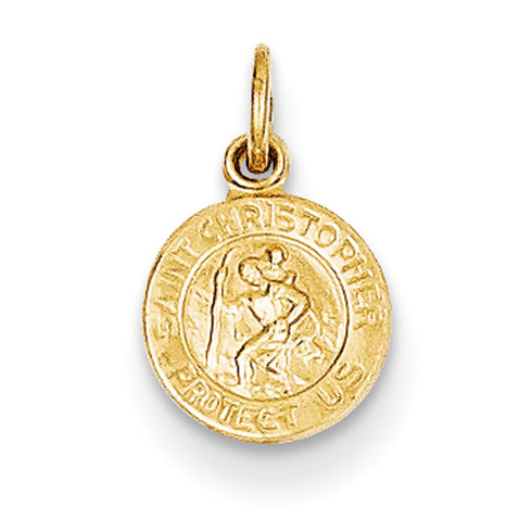 14kt Yellow Gold 5/16in Saint Christopher Medal Charm