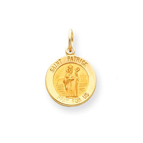 14k 9/16in Saint Patrick Medal Charm