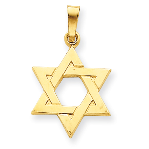 14kt Yellow Gold 5/8in Star of David Charm