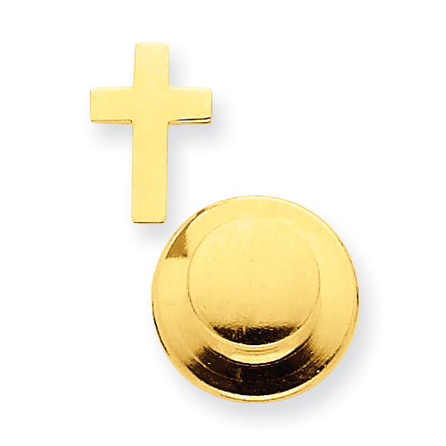 14kt Yellow Gold 3/8in Cross Tie Tac