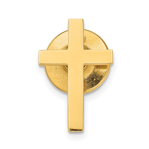 14kt Yellow Gold 11/16in Polished Cross Tie Tac