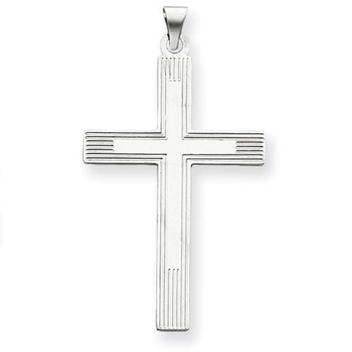 14kt 1 9/16in White Cross Charm