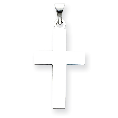 14kt White Gold 1 1/8in Cross Pendant