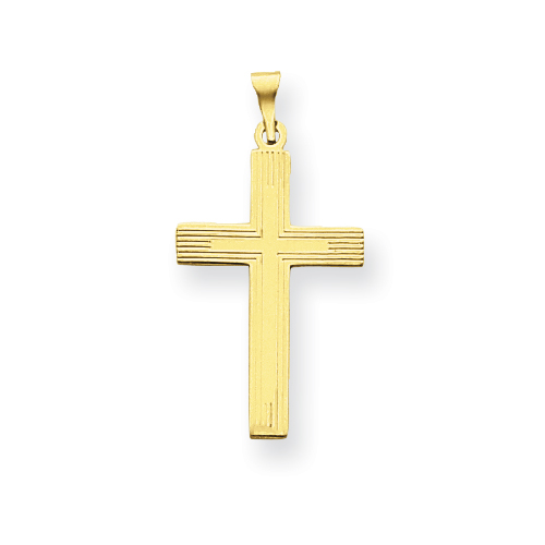 14kt 7/8in Polished Cross Charm