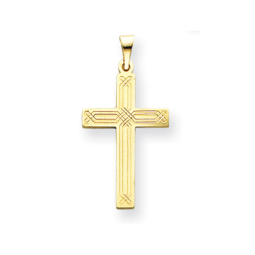 14kt Yellow Gold 7/8in Cross Pendant