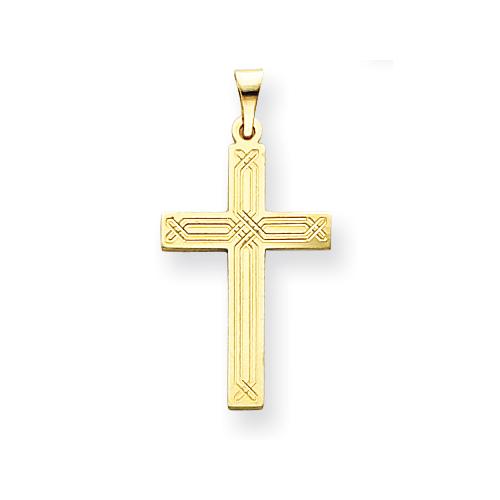 14kt Yellow Gold 7/8in Cross Pendant