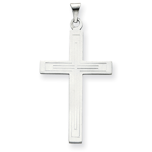 14kt White Gold 1 9/16in Cross Pendant