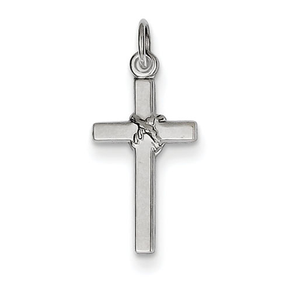 14kt White Gold 5/8in Cross Charm