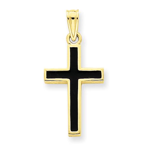 14kt 3/4in Epoxy Latin Cross Pendant