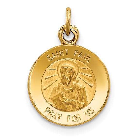 14k 7/16in Saint Paul Medal Charm