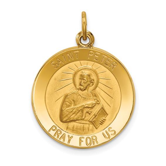 14k 11/16in Saint Peter Medal Pendant