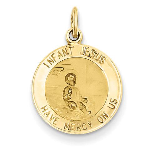 14kt 9/16in Infant Jesus Medal Charm