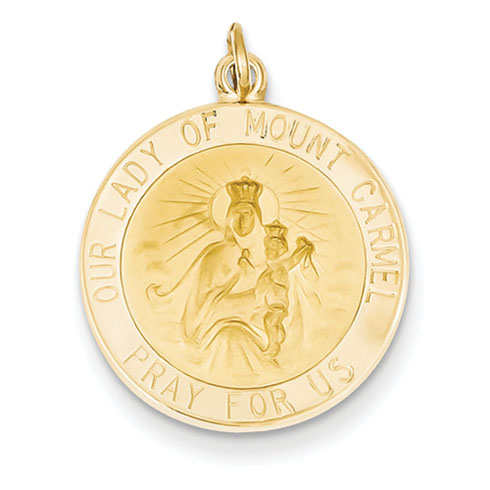 14kt 11/16in Our Lady of Mt. Carmel Medal Charm