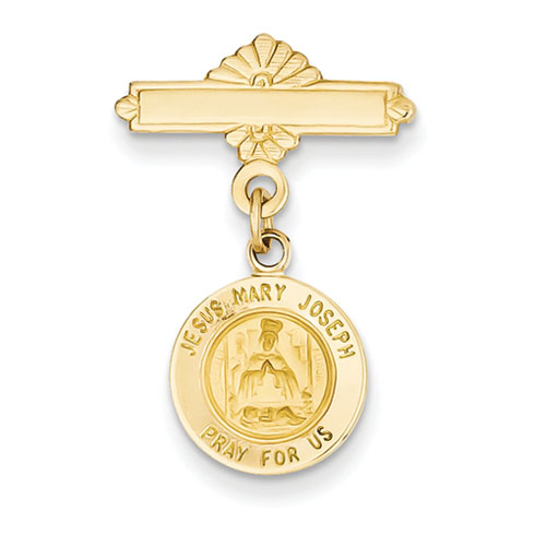 14kt 1in Holy Family Medal Pin