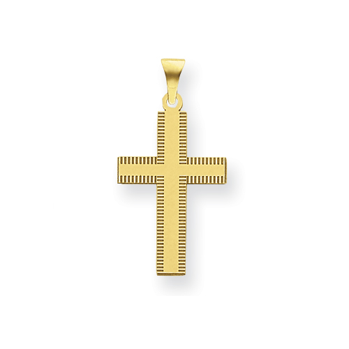 14kt 3/4in Laser Designed Cross