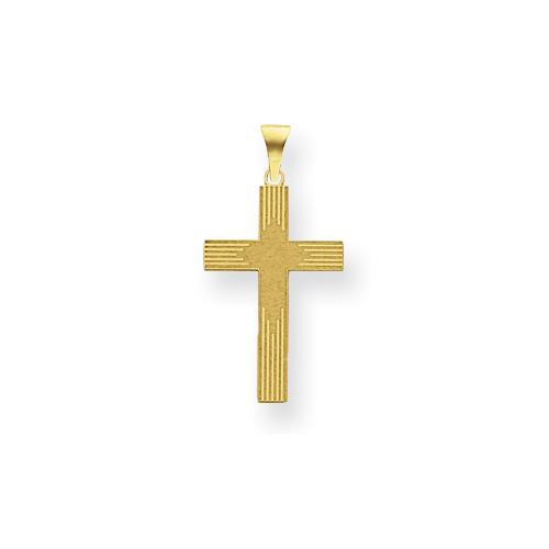 14kt 5/8in Laser Designed Cross