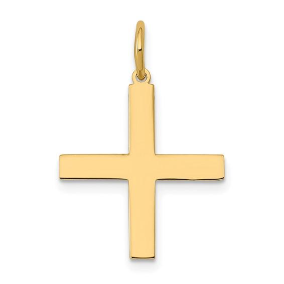 14kt Yellow Gold 5/8in Greek Cross