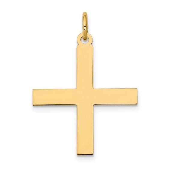 14kt Yellow Gold 3/4in Greek Cross