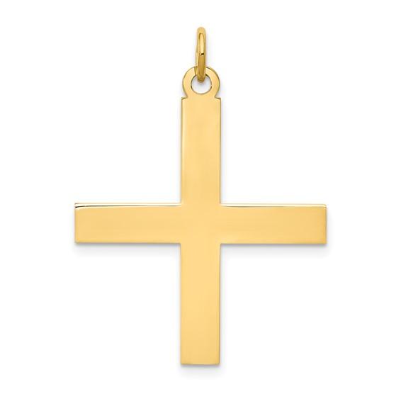 14kt Yellow Gold 1in Greek Cross