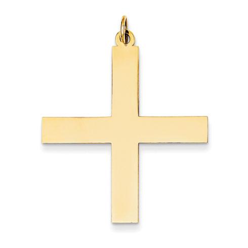 14kt Yellow Gold 1 1/4in Greek Cross Pendant
