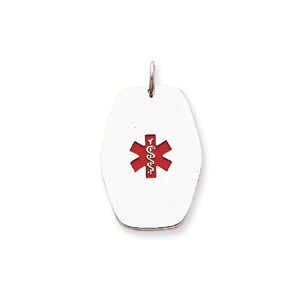 Medical Pendant 1 1/4in - Sterling Silver