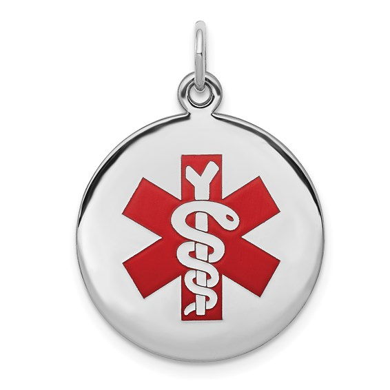 Medical Pendant 11/16in - Sterling Silver