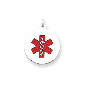 Medical Pendant 13/16in - Sterling Silver