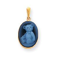 14kt Gold Teddy Bear Cameo