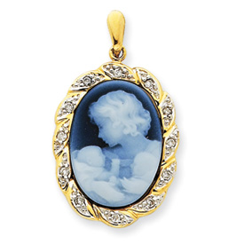14kt Yellow Gold New Arrival Twins Cameo