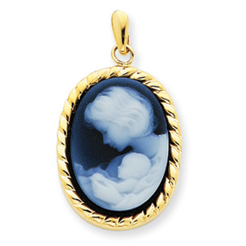 14kt Yellow Gold New Arrival Cameo Pendant