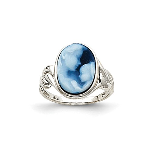 14kt White Gold Heavens Gift Cameo Ring Size 7