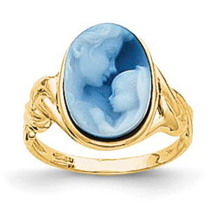 14kt Yellow Gold Heavens Gift Cameo Ring Size 7