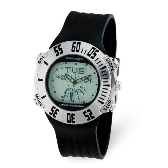 Charles Hubert Digital Dial Chronograph Watch 3563-W