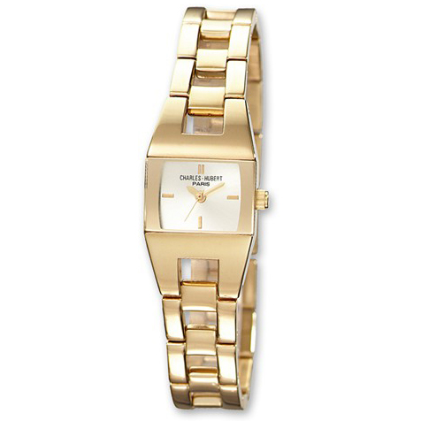 Charles Hubert 14k Gold-plated Stainless Steel Watch 6736-G