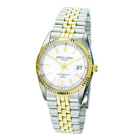 Charles Hubert Two-tone Stainless Steel Silver Dial Watch 3619
