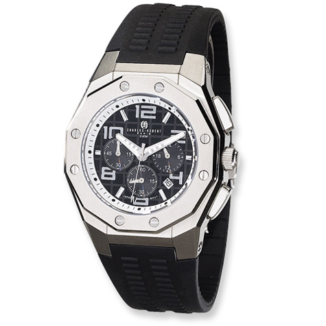 Mens Charles Hubert Stainless Steel Chronograph Watch