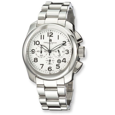 Mens Charles Hubert Stainless Steel Chronograph Watch