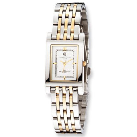 Mens Charles Hubert Two-tone Gold-plated Stainless Steel Watch