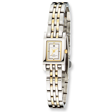 Ladies Charles Hubert Two-tone Gold-plated Stainless Steel Watch