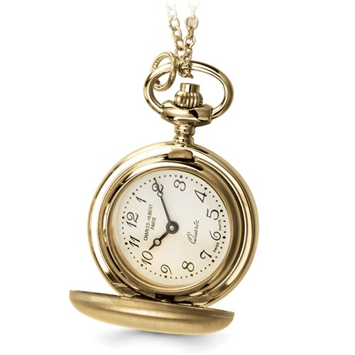 Ladies Charles Hubert Satin Gold-plated Brass Pendant Watch