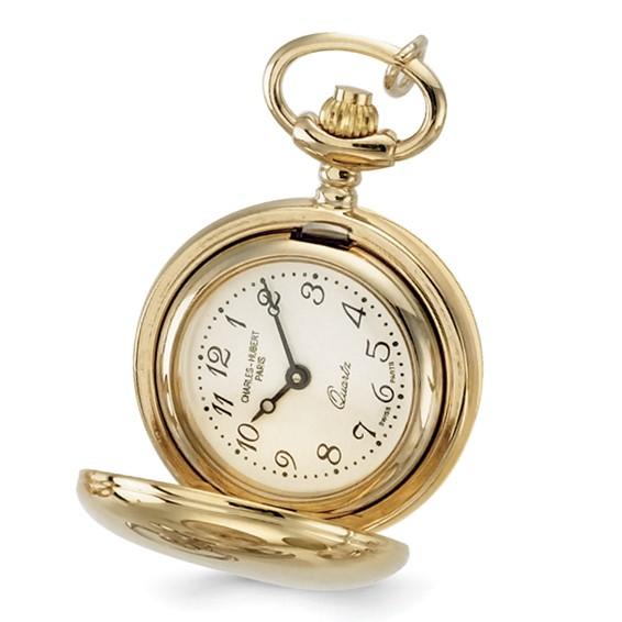 Charles Hubert Gold-plated Brass Pendant Watch