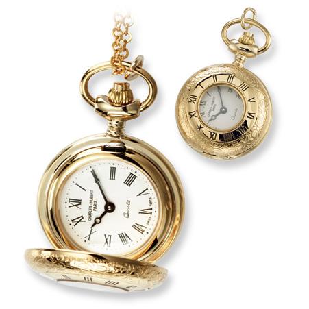 Ladies Charles Hubert Gold-plated Brass Pendant Watch