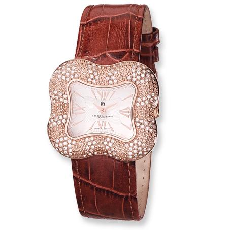 Ladies Charles Hubert Rose Gold-plated Swarovski Crystal Watch