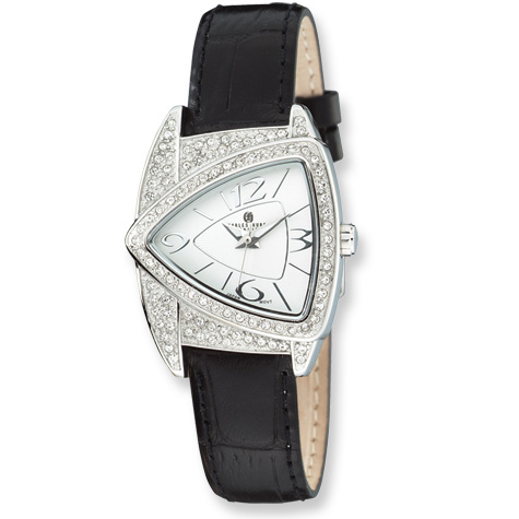 Ladies Charles Hubert Stainless Steel Swarovski Crystal Watch