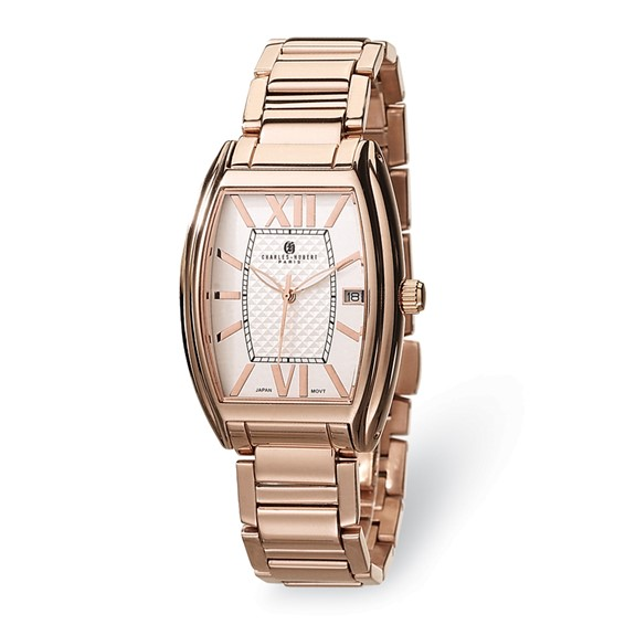 Mens Charles Hubert Rose Gold-plated Stainless Steel Watch