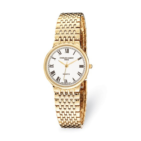 Charles Hubert Gold-plated Stainless Steel Watch Roman Numerals